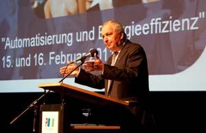 Dr Klaus Topfer delivering the keynote address at the 2011 PI Conference